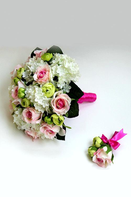 свадебный букет из искуственных цветов