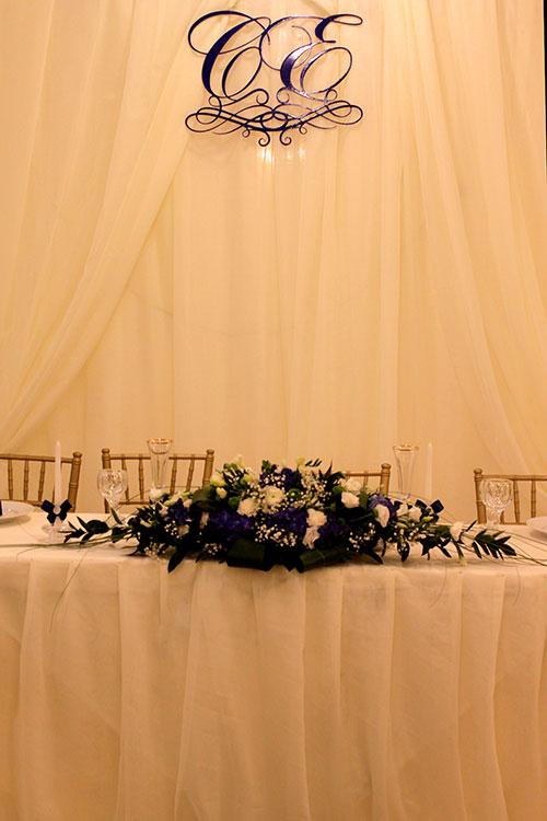 Декорирование свадебной ширмы