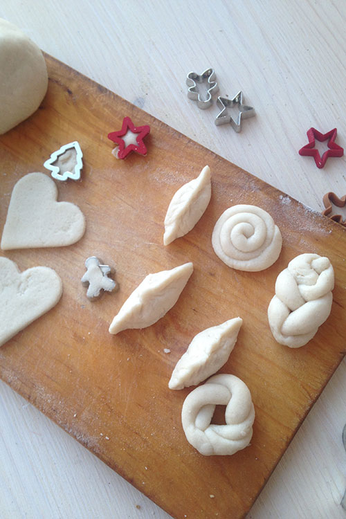 Ёлочное украшение-печенье своми руками.