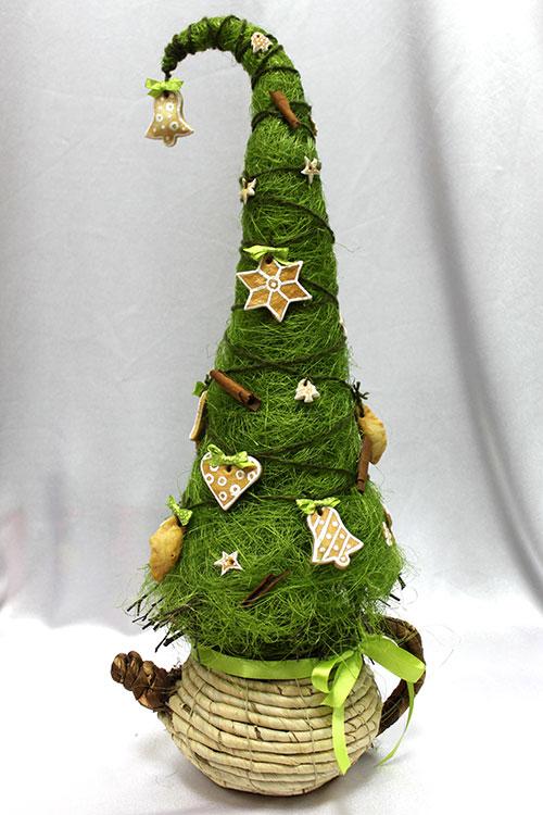 Новогодняя елка украшеная печеньем