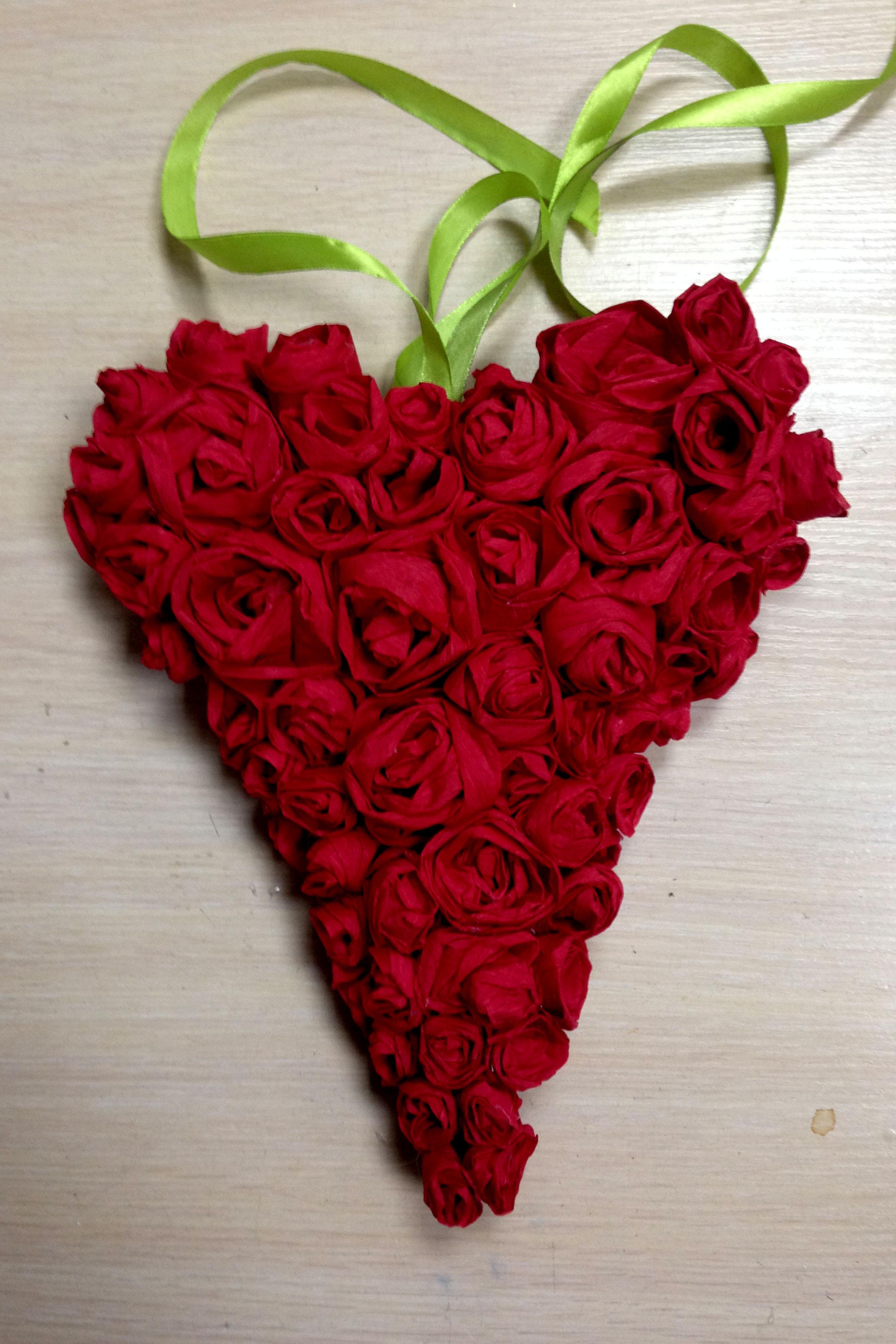Поделка из роз