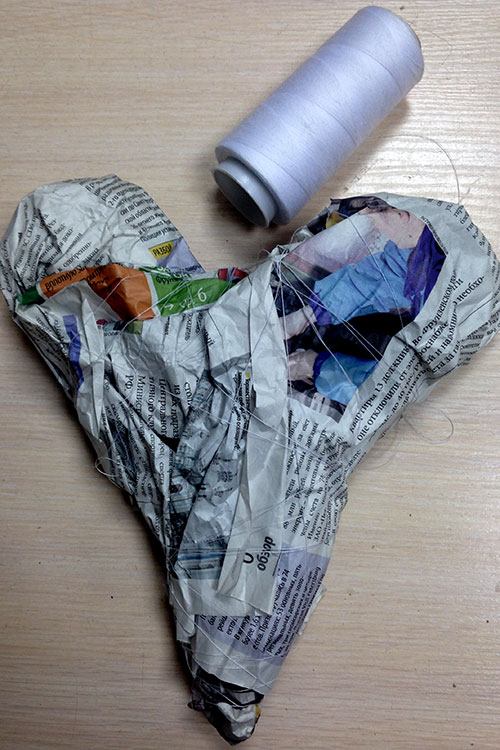 Придаем форму сердца