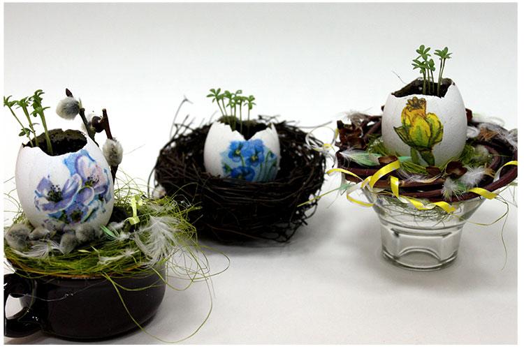 Пасхальная композиция с ростками.