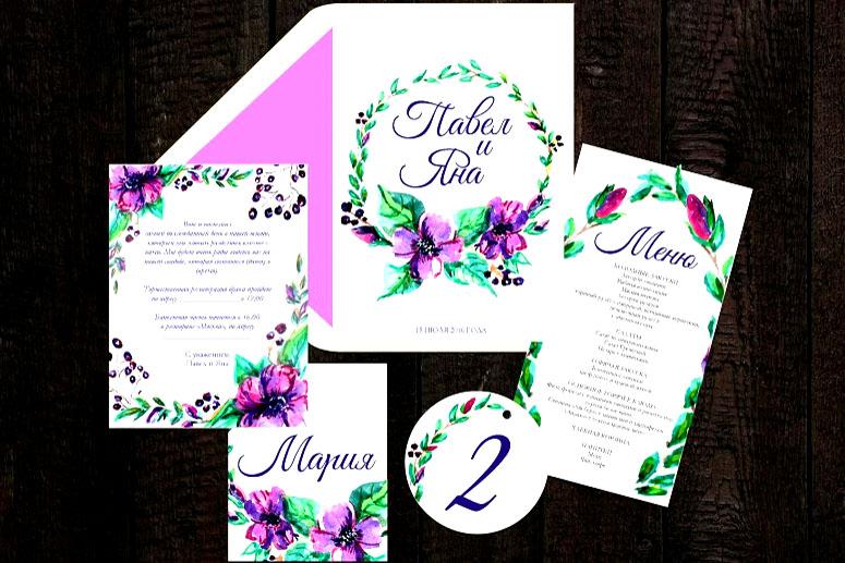 Дизайн в лиловом цвете