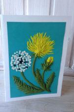 Мастер-класс  «Изготовление открытки «Одуванчики» с применением пластилина.»