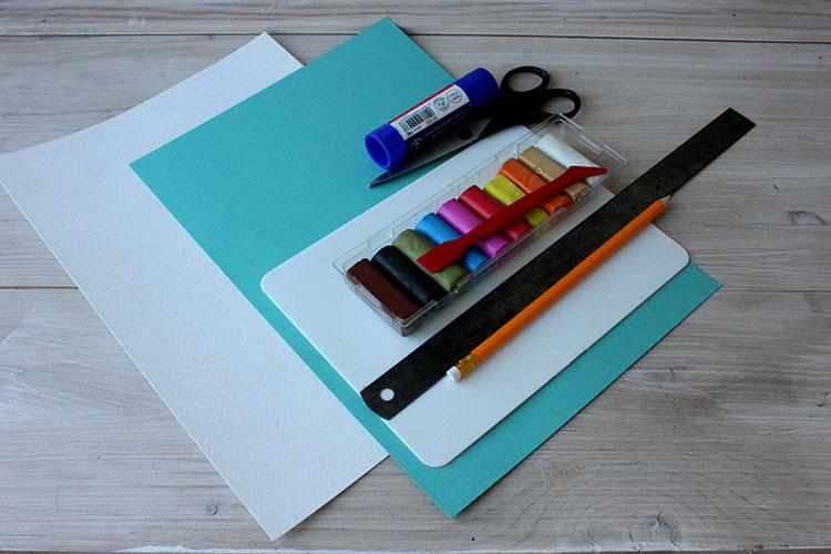 материалы для мастеркласса Открытка Одуванчик
