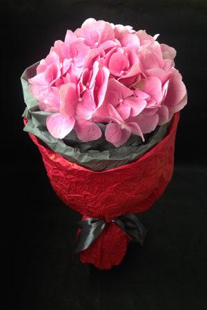 Букет из одной розовой гортензии