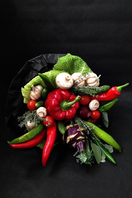 Овощной букет с кольраби