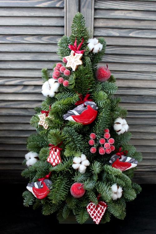 Новогодняя елка с расписными пряниками