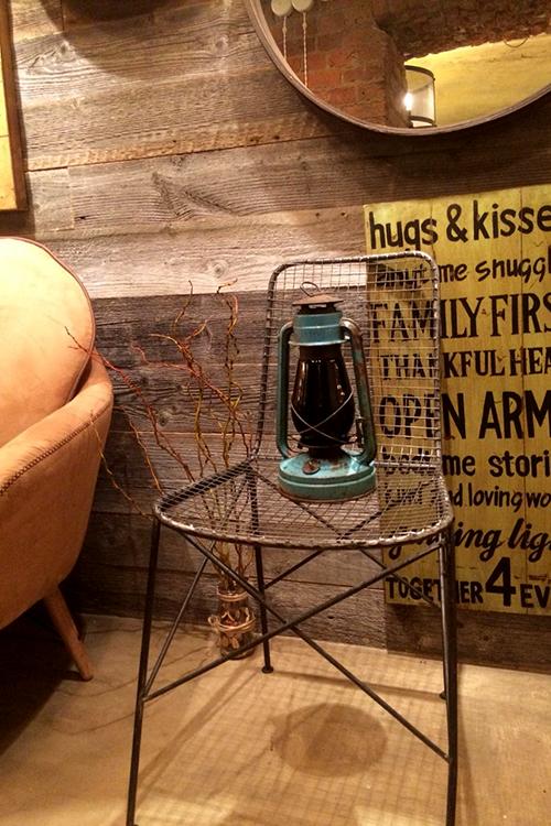 Винтажная лампа в интерьере лофта