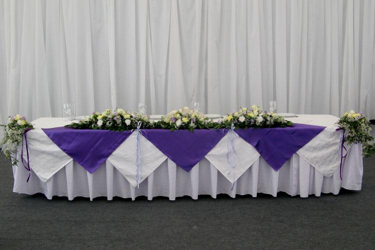 Декорирование стола молодоженов в комплексе Воздух