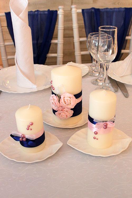 Свечи Домашний очаг на свадьбе Мироновых