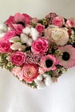 Сердце из цветов на 14 февраля!