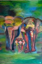 Мастер-класс по живописи маслом. Слоны