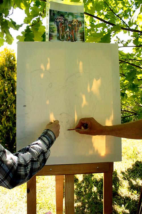 Рисуем маслом слонов Мастеркласс
