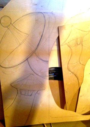 Эскизы деталей на фанере