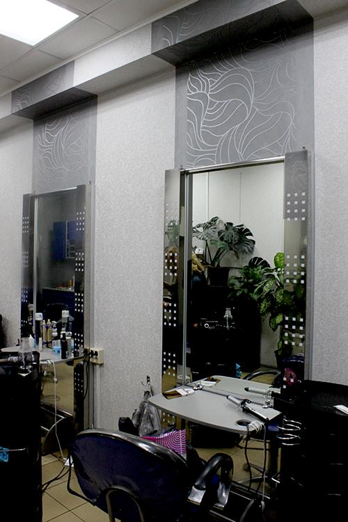 Рабочая зона парикмахерского зала салона Коктейль