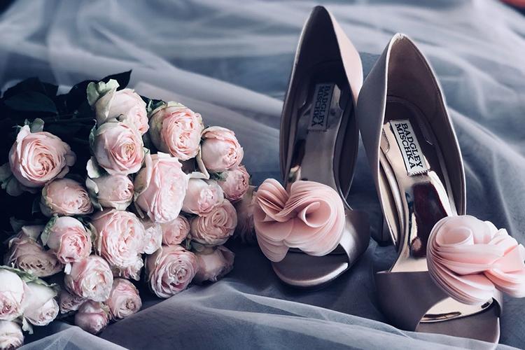 Свадебные аксессуары в цвете пудра