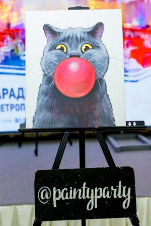 Готовая картина Кот от компании Painty