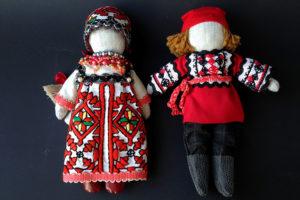 Русские куклы ручной работы пара