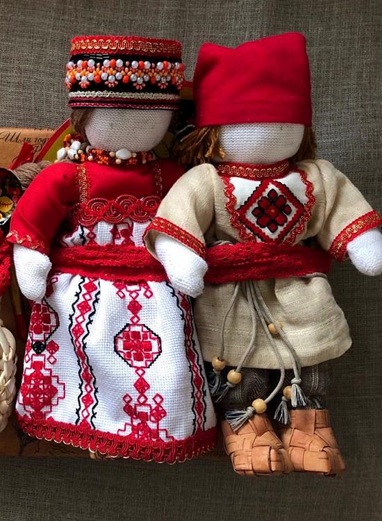 Русские текстильные куклы. Пара