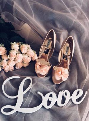 Туфли цвета пудры на праздник