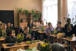Мастер-класс в День учителя в школе