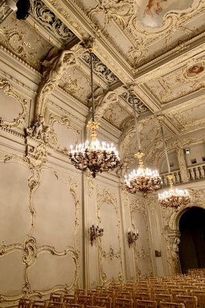Белый зал дворца Князя Владимира.