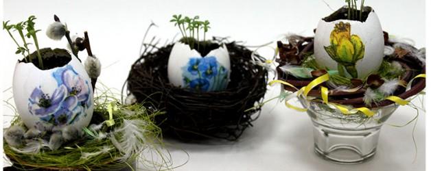 Мастер- класс по изготовлению Пасхального сувенира с пророщенными семенами.