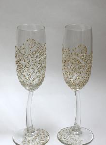 Свадебные бокалы «Волшебный узор»
