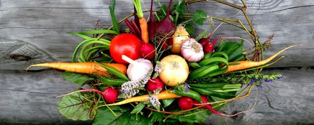 Букеты из овощей.