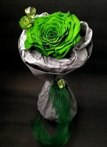 Роза зеленая стабилизированная.