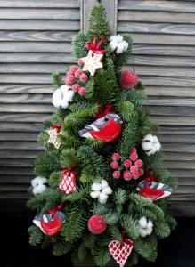 Новогодняя елка с имбирными пряниками.