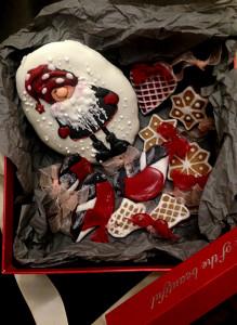 """Новогодний подарочный набор с пряниками """"Гном""""."""