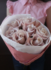 "Букет из роз ""Мента""."
