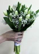 Букет невесты с белыми тюльпанами