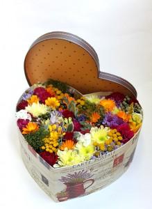 Коробка с цветами «Летняя поляна»